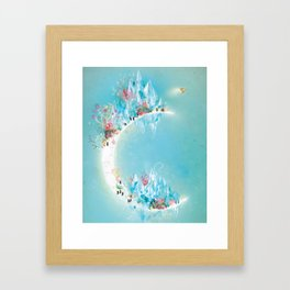Crystal Moon Framed Art Print