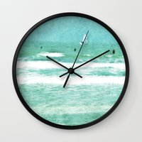 sailing Wall Clocks featuring sailing by Iris Lehnhardt
