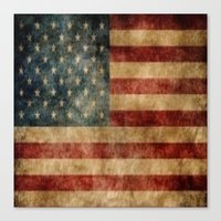 american flag Canvas Prints featuring American Flag by KOverbee