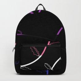 Jagged leaves, genderfluid pride flag Backpack