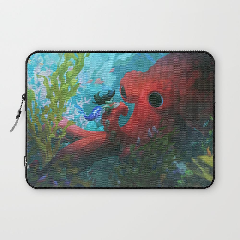 In An Octopus' Garden Laptop Sleeve LSV7899234
