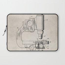 Microscope Patent - Scientist Art - Antique Laptop Sleeve