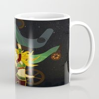 superhero Mugs featuring Superhero by Kamiledesigns
