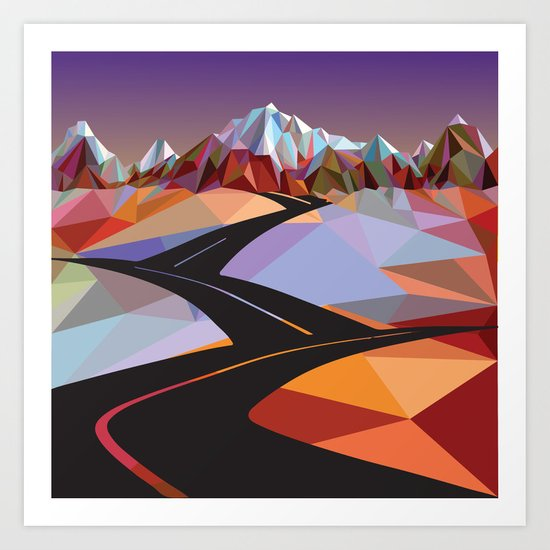 Night Mountains No. 42 Art Print