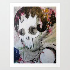 Day of the Dead Flamenco Dancer Portrait Art Print