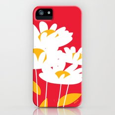 Flowers on Red by Friztin Slim Case iPhone (5, 5s)