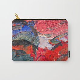 Up Close & Personal with Portrait of a Shoe #2 by Joan Brown Carry-All Pouch