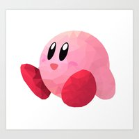 kirby Art Prints featuring Kirby by Sharna Myers