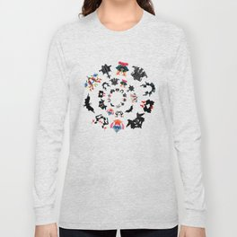 Rorschach test subjects' perceptions of inkblots psychology   thinking Exner score Long Sleeve T-shirt
