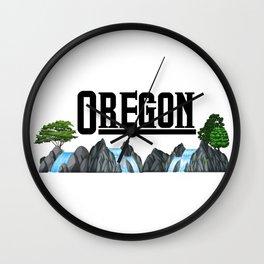 Oregon for Men Women and Kids Wall Clock