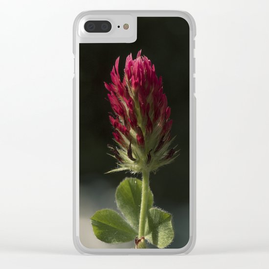 Red Clover Clear iPhone Case