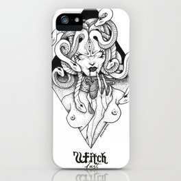 Witch Lust // Bruja Lujuria by Zteven Miranda iPhone Case