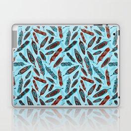 Tlingit Feathers Blue Laptop & iPad Skin