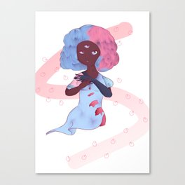 Bubblegum garnet Canvas Print