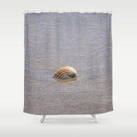 seashell Shower Curtains featuring Seashell II by Maria Heyens