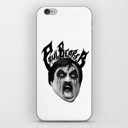 Black Metal Paul Bearer iPhone Skin