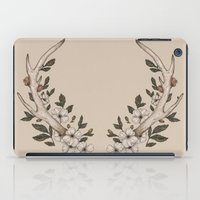 antler iPad Cases featuring Floral Antler by Jessica Roux