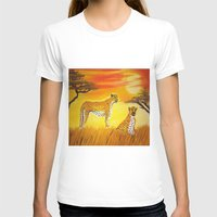 tigers T-shirts featuring Tigers Sun by ArtSchool