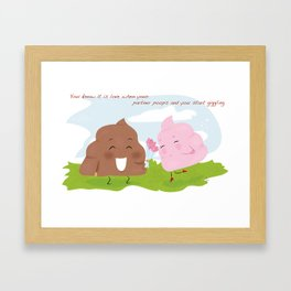 poop's love 1 Framed Art Print