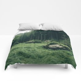 Forest Field - Landscape Photography Comforters