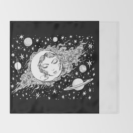 Midnight Muse Moon Love Throw Blanket