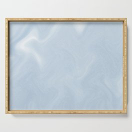Snow Art 3 - Blue Serving Tray