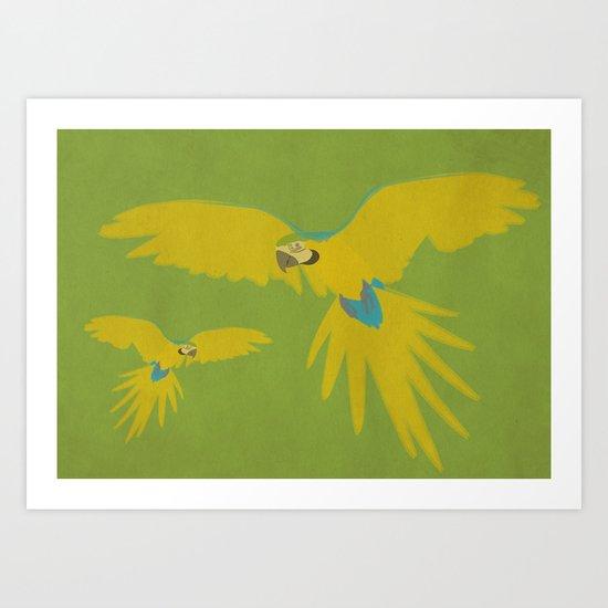 Rainforest Flight Art Print