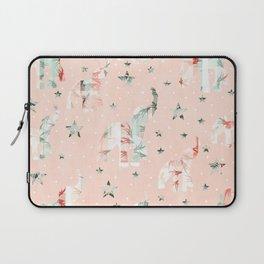 Pastel Tone Elephants Stars Pattern Laptop Sleeve