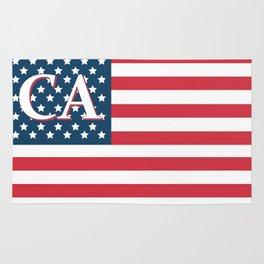 California American Flag Rug