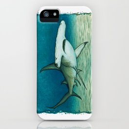 """""""Great Hammerhead Shark"""" by Amber Marine ~ Watercolor Painting, (Copyright 2016) iPhone Case"""