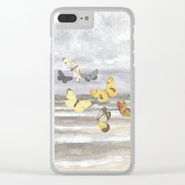 Escape  - butterflies and sea Clear iPhone Case