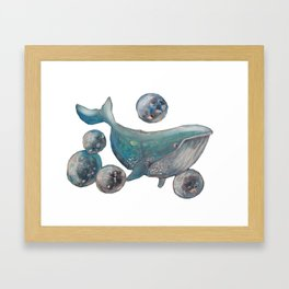 The Planets of Whale Framed Art Print
