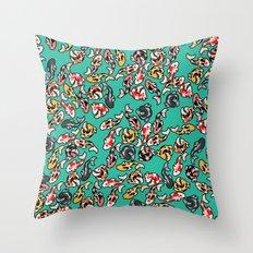 Aqua Koi Throw Pillow