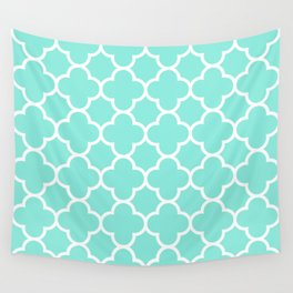 MOROCCAN {TEAL & WHITE} Wall Tapestry