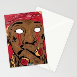 PRINT ILLUSTRATION YOUNG THUG Stationery Cards