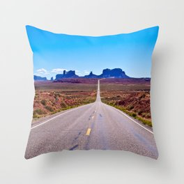 That Endless Road Throw Pillow