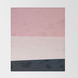 Pink & Naval & Rose Abstract Background Throw Blanket