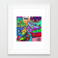 police Framed Art Prints featuring Police Brutality by Linda Tomei