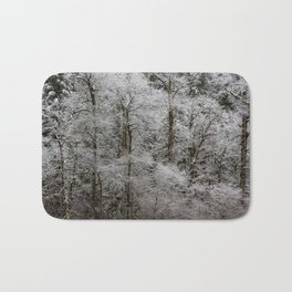 Snow Dusted Trees, No. 2 Bath Mat