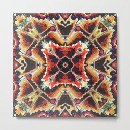 Colorful Tribal Geometric Abstract Metal Print