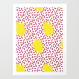 Splat! Boom! Bang! Art Print