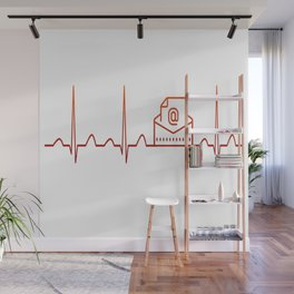 Mail Carrier Heartbeat Wall Mural