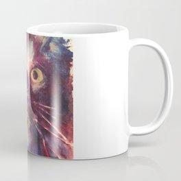 Vampire Cat, Watercolor Painting, Fang Kitty Coffee Mug