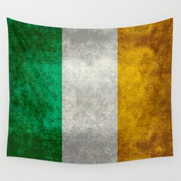 Republic of Ireland Flag, Vintage grungy Wall Tapestry