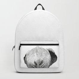 Black and white elephant animal jungle Backpack