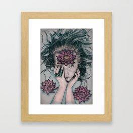Liquid Flower Framed Art Print