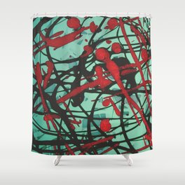 Turquoise Pop Shower Curtain