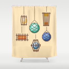 Tiki Lights Shower Curtain