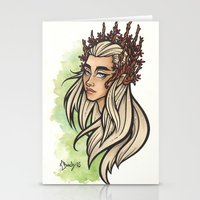 thranduil Stationery Cards featuring Thranduil by Warbunny