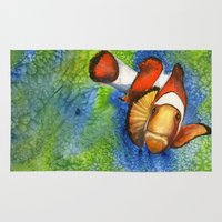 nemo Area & Throw Rugs featuring I Found Nemo by Heather Torres Art